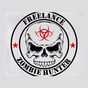 Freelance Zombie Hunter Throw Blanket