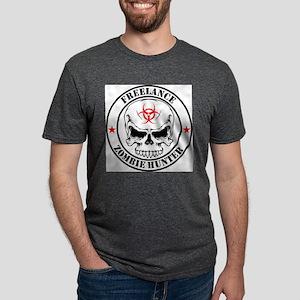 Freelance Zombie Hunter Mens Tri-blend T-Shirt