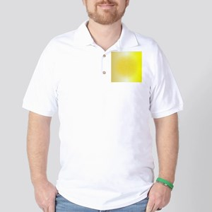 Dotted Yellow Orb Background Golf Shirt