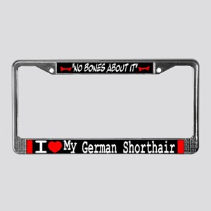 NB_German Shorthaired Pointer License Plate Frame