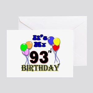 93rd birthday greeting cards cafepress its my 93rd birthday greeting cards pk of 10 m4hsunfo