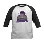 Trucker Tamara Kids Baseball Jersey