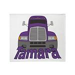 Trucker Tamara Throw Blanket
