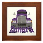 Trucker Tamara Framed Tile