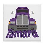 Trucker Tamara Tile Coaster