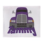 Trucker Tammy Throw Blanket