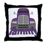 Trucker Tammy Throw Pillow