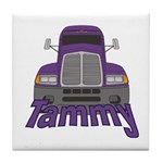 Trucker Tammy Tile Coaster