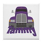 Trucker Tammy Tile Coaster