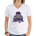Trucker Tanya Women's V-Neck T-Shirt