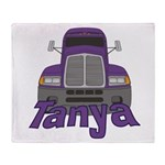 Trucker Tanya Throw Blanket