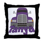 Trucker Tanya Throw Pillow