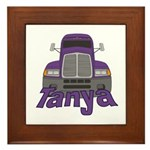 Trucker Tanya Framed Tile