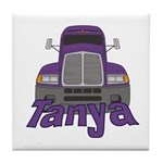 Trucker Tanya Tile Coaster