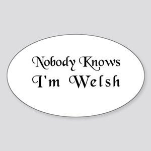 The Welsh Oval Sticker