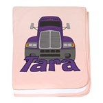 Trucker Tara baby blanket
