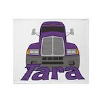 Trucker Tara Throw Blanket
