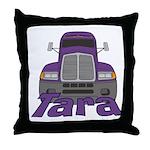 Trucker Tara Throw Pillow