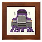 Trucker Tara Framed Tile