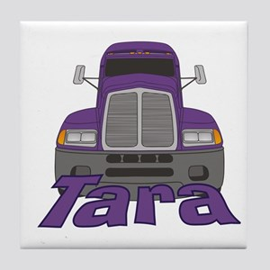 Trucker Tara Tile Coaster