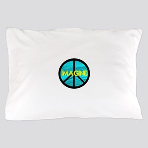 IMAGINE with PEACE SYMBOL Pillow Case