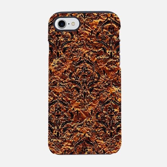 DAMASK1 BLACK MARBLE & COPPER iPhone 7 Tough Case
