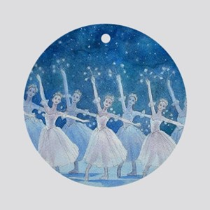 Dance of the Snowflakes Ornament (Round)