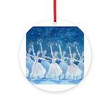 Nutcracker snowflakes Round Ornaments