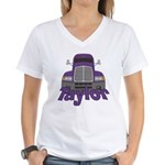 Trucker Taylor Women's V-Neck T-Shirt
