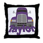 Trucker Taylor Throw Pillow