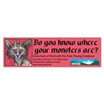 Do you know where your monsters are?
