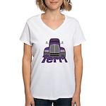 Trucker Terri Women's V-Neck T-Shirt