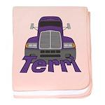 Trucker Terri baby blanket