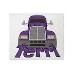 Trucker Terri Throw Blanket
