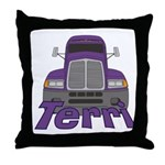 Trucker Terri Throw Pillow