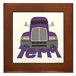 Trucker Terri Framed Tile