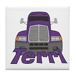 Trucker Terri Tile Coaster