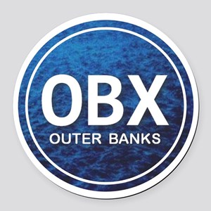 OBX - Outer Banks Round Car Magnet