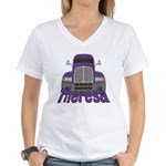 Trucker Theresa Women's V-Neck T-Shirt