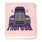 Trucker Theresa baby blanket