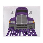 Trucker Theresa Throw Blanket