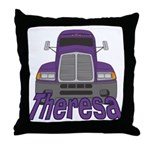 Trucker Theresa Throw Pillow