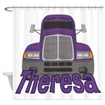 Trucker Theresa Shower Curtain