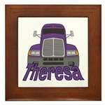 Trucker Theresa Framed Tile
