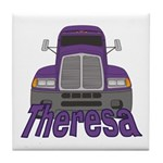 Trucker Theresa Tile Coaster