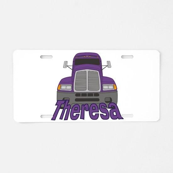 Trucker Theresa Aluminum License Plate