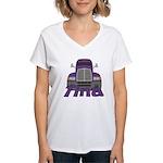 Trucker Tina Women's V-Neck T-Shirt