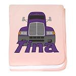 Trucker Tina baby blanket