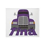 Trucker Tina Throw Blanket