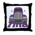 Trucker Tina Throw Pillow